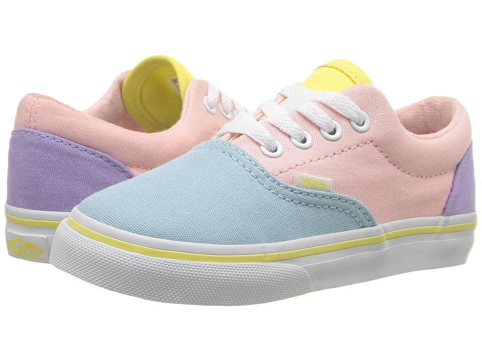 Vans Kids - Era (Toddler) ((Pastel Tones) Multi/True White) Girls Shoes