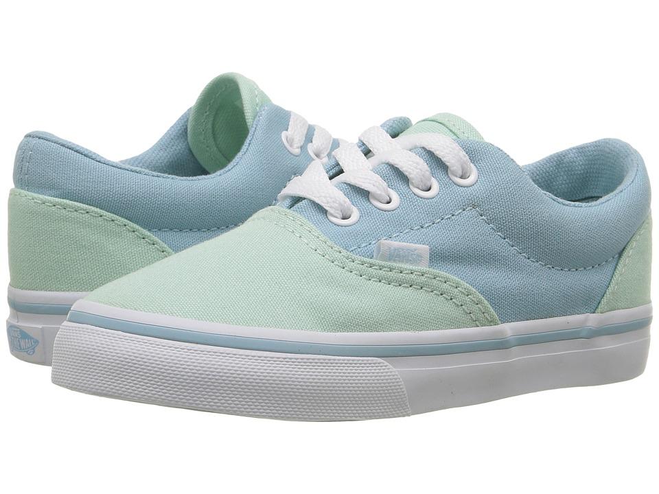 Vans Kids Era (Toddler) ((Pastel Tones) Bay/Crystal Blue) Girls Shoes