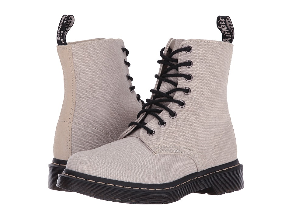 Dr. Martens - Page Mix (Bone/Porcelain Washed Canvas/Hi Suede WP) Women's Boots