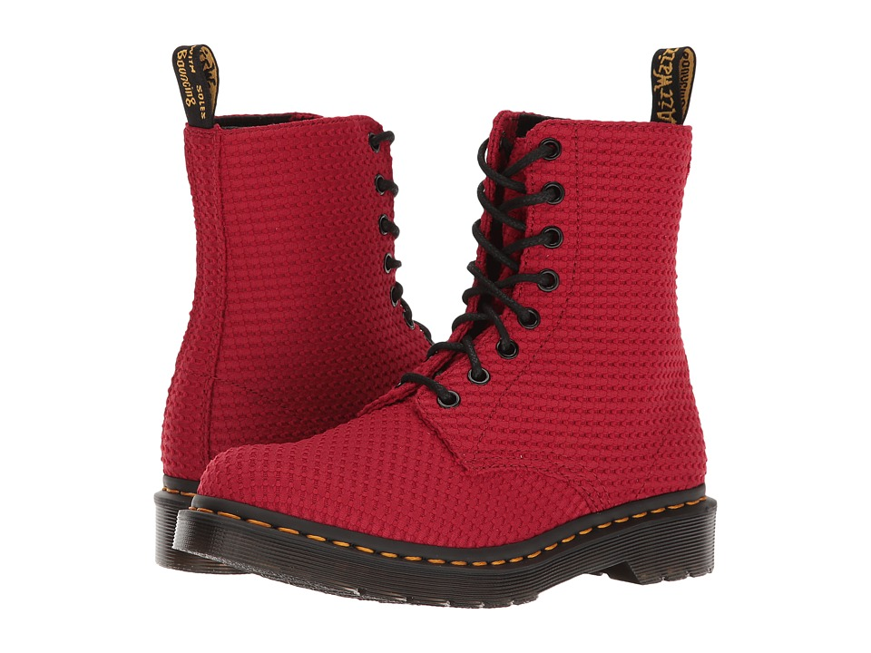 Dr. Martens - Page WC (Dark Red Waffle Cotton) Women's Boots