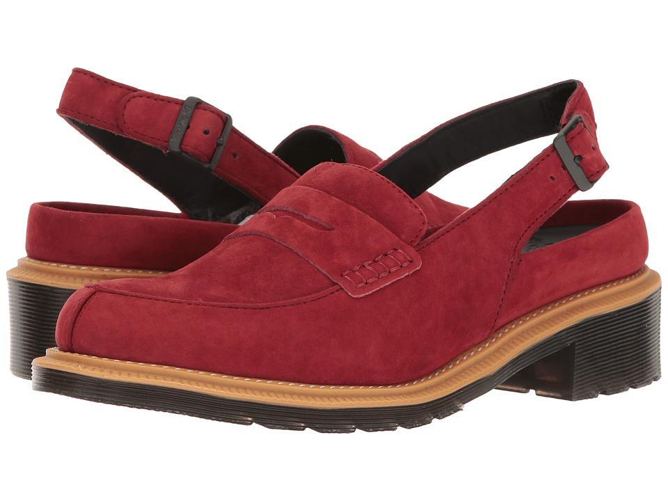 Dr. Martens - Romana (Dark Red Soft Buck) Women's Sandals