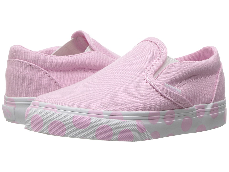 Vans Kids - Classic Slip-On (Toddler) ((Polka Dot) Pink Lady/True White) Girls Shoes