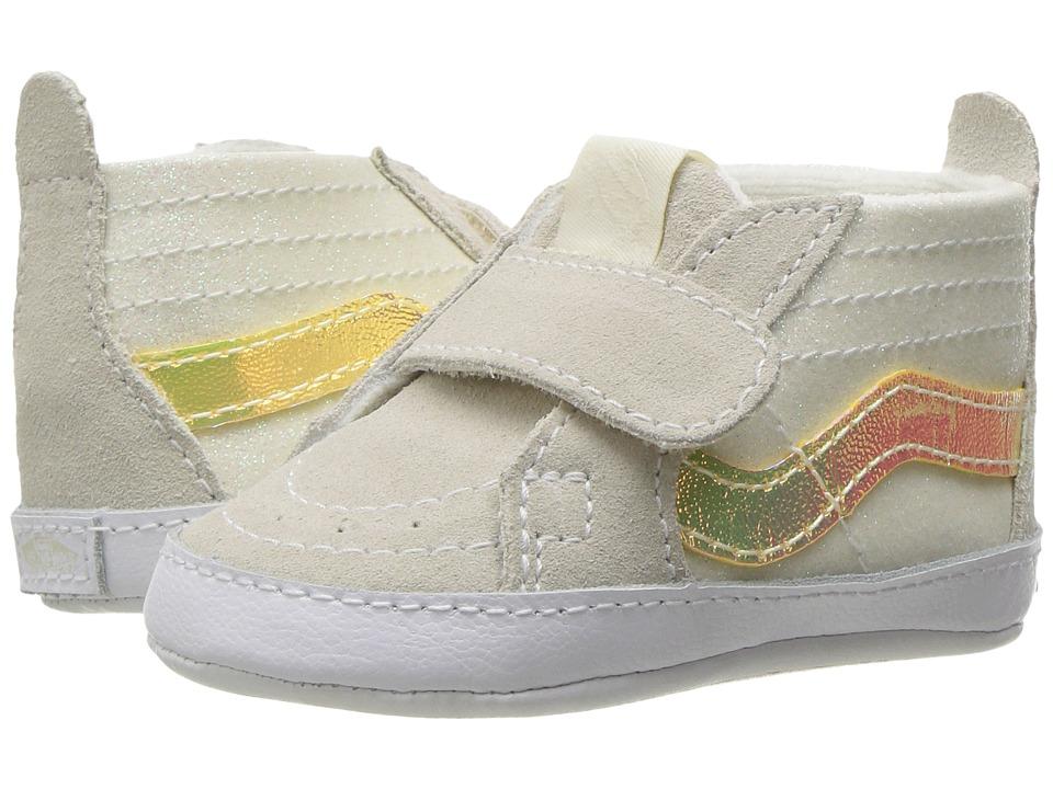 Vans Kids - SK8-Hi Crib (Infant/Toddler) ((Glitter & Iridescent) White/True White) Girls Shoes