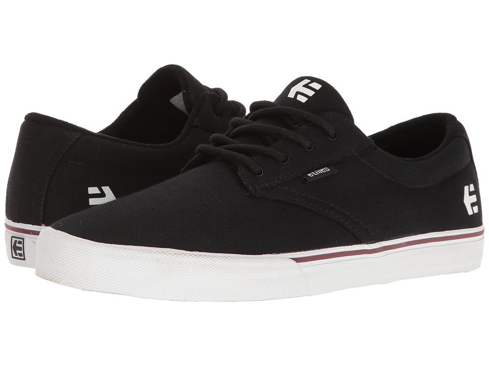 etnies - Jameson Vulc (Black/White) Men's Skate Shoes