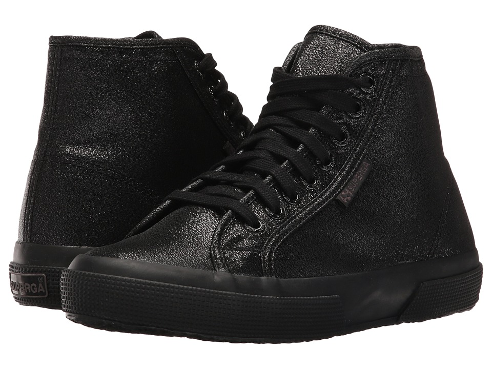 Superga - 2795 Lame (Total Black) Women's Lace up casual Shoes