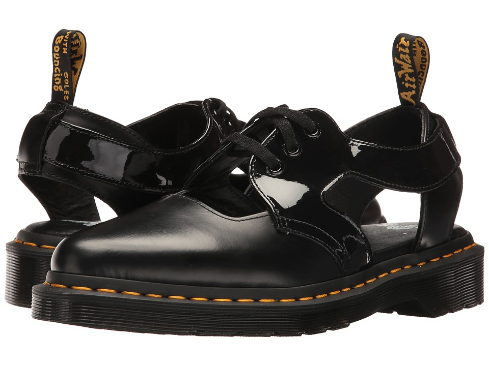Dr. Martens - Genna (Black Polished Smooth/Patent Lamper) Women's Boots