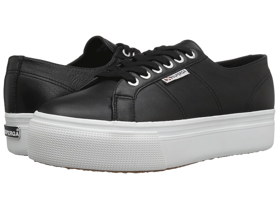 Superga - 2790 FGLW (Black) Women's Lace up casual Shoes