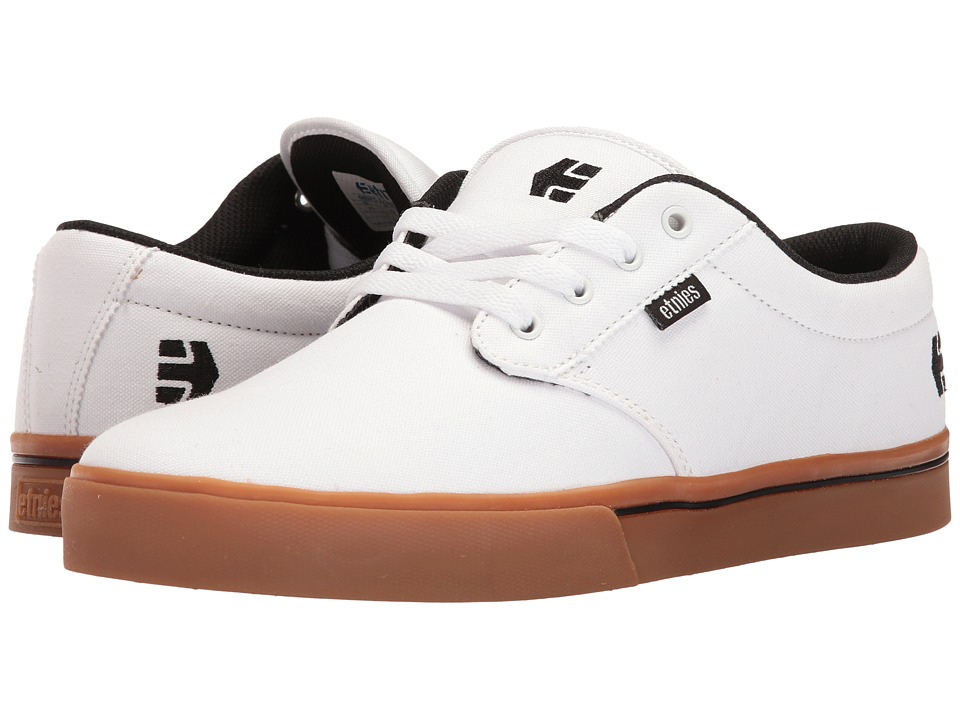 etnies - Jameson 2 Eco (White/Black/Gum) Men's Skate Shoes