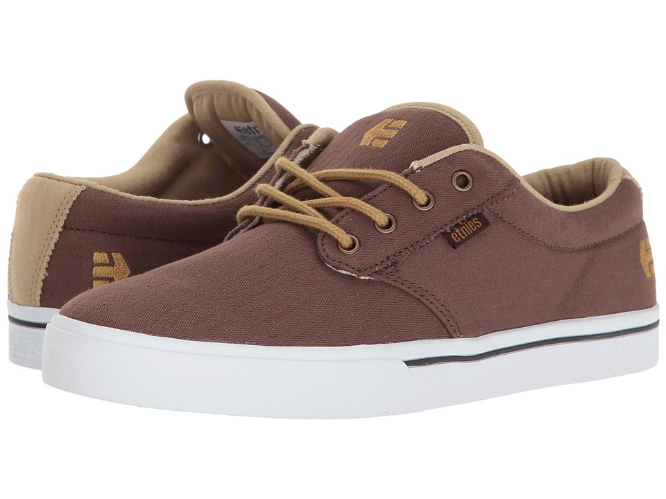 etnies - Jameson 2 Eco (Brown/Tan/White) Men's Skate Shoes