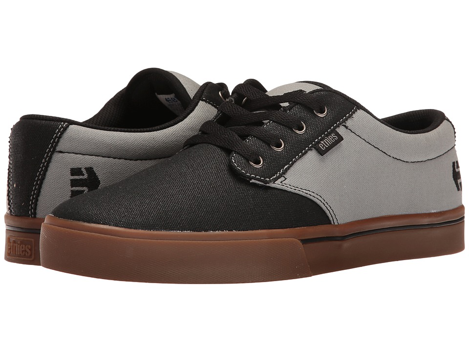 etnies - Jameson 2 Eco (Black/Black/Grey) Men's Skate Shoes