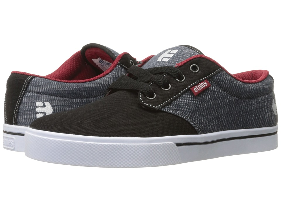 etnies - Jameson 2 Eco (Black/Charcoal/Red) Men's Skate Shoes