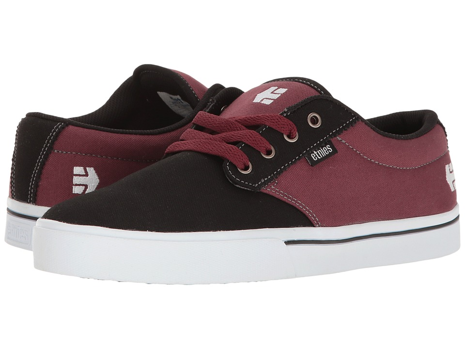 etnies - Jameson 2 Eco (Black/Red) Men's Skate Shoes