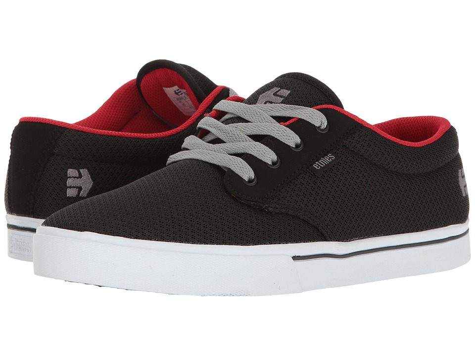 etnies - Jameson 2 Eco (Black/White/Red) Men's Skate Shoes