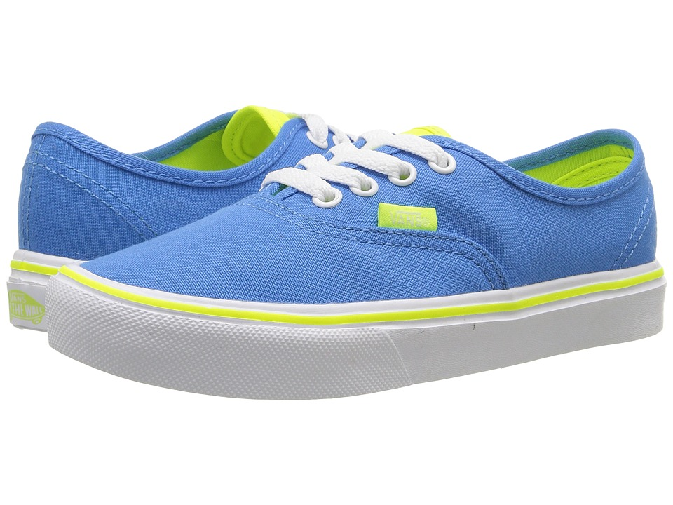 Vans Kids Authentic Lite (Little Kid/Big Kid) ((Classic Pop) French Blue/White) Boys Shoes