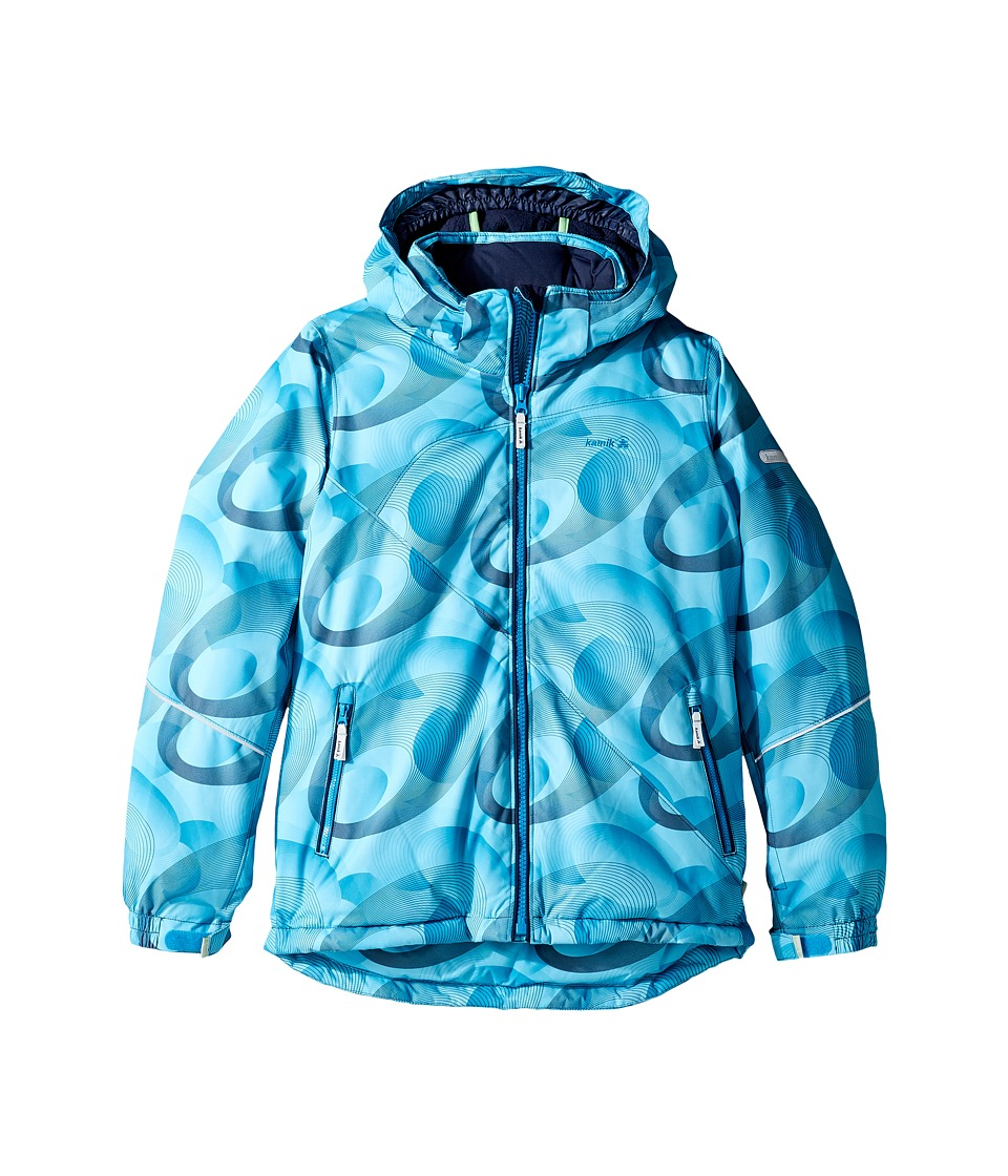 Kamik Kids - Aria Spiral Blitz Jacket (Little Kids/Big Kids) (Peacoat) Girl's Coat