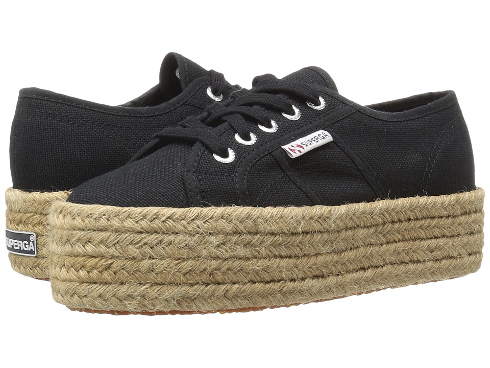 Superga - 2790 Cotropew (Black) Women's Lace up casual Shoes