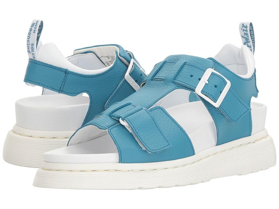Dr. Martens - Kamilah (Sky Blue Pebble Lamper) Women's Sandals