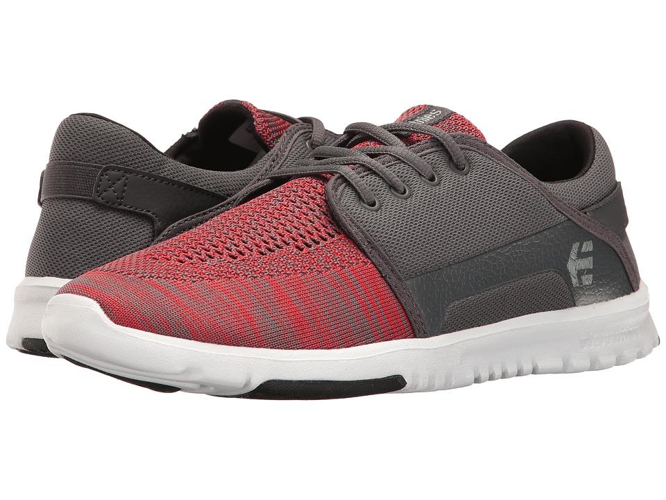 etnies - Scout YB (Dark Grey/Red) Men's Skate Shoes