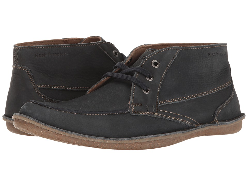 Hush Puppies Alby Roll Flex (Navy Nubuck) Men's Lace up casual Shoes