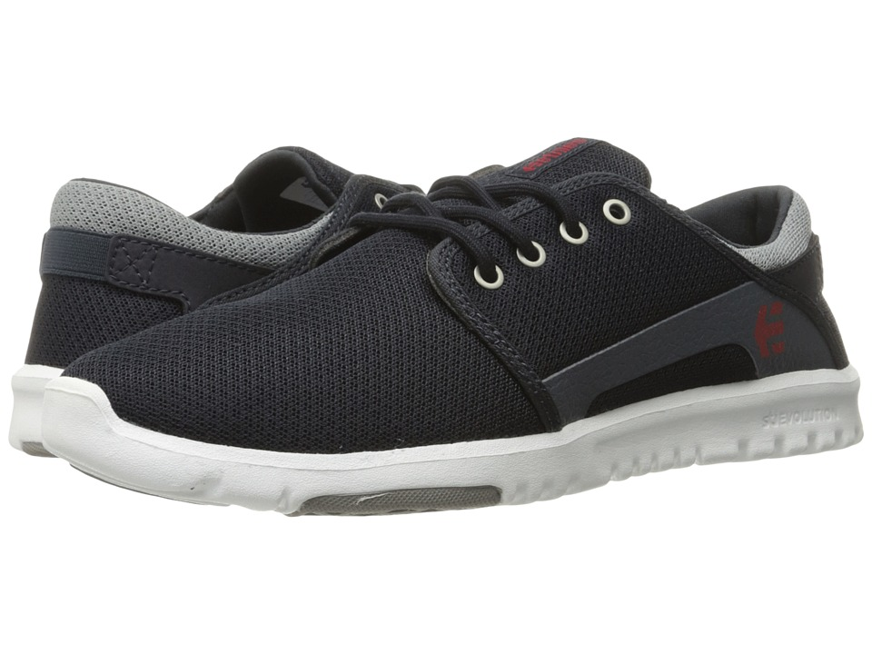 etnies - Scout (Navy/Grey/Red) Men's Skate Shoes