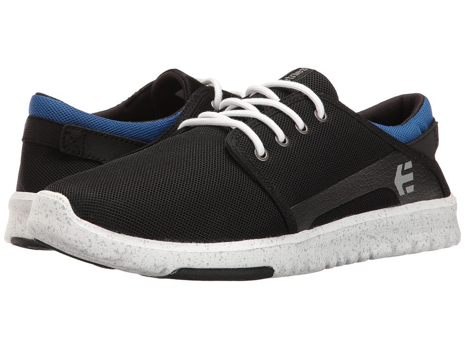 etnies - Scout (Black/Blue/Black) Men's Skate Shoes