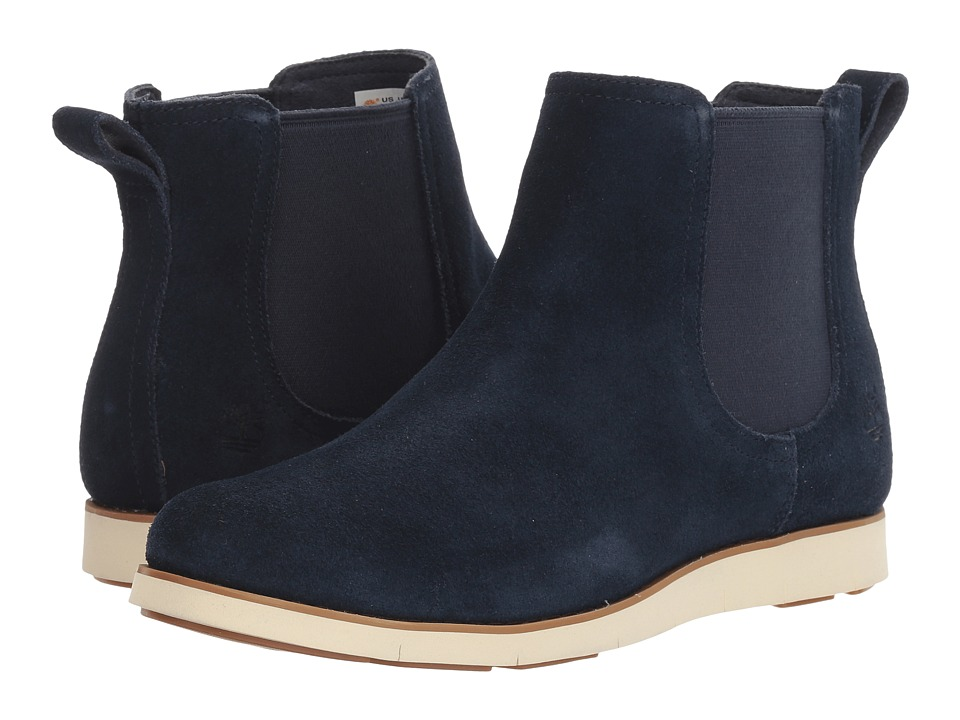 Timberland - Lakeville Double Gore Chelsea (Navy Suede) Women's Boots