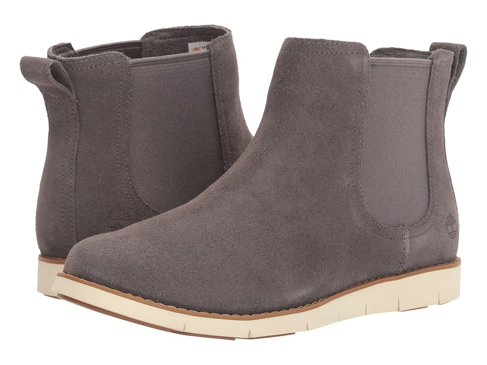 Timberland - Lakeville Double Gore Chelsea (Dark Grey Suede) Women's Boots