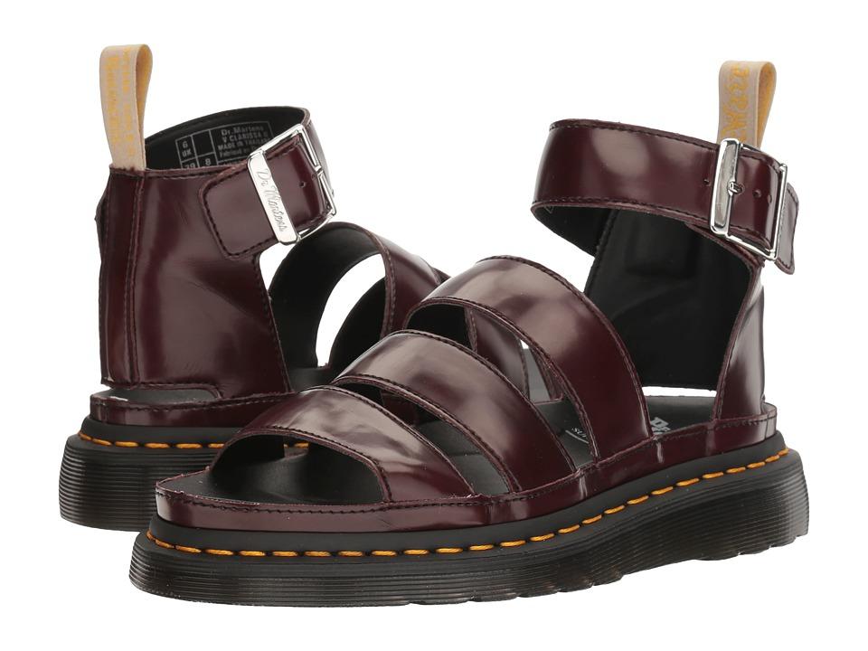 Dr. Martens - V Clarissa II (Cherry Red Cambridge Brush) Women's Sandals