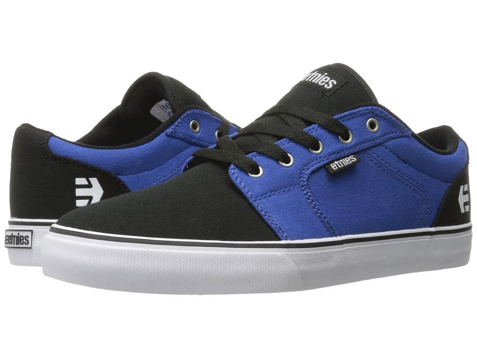 etnies - Barge LS (Black/Blue/White) Men's Skate Shoes