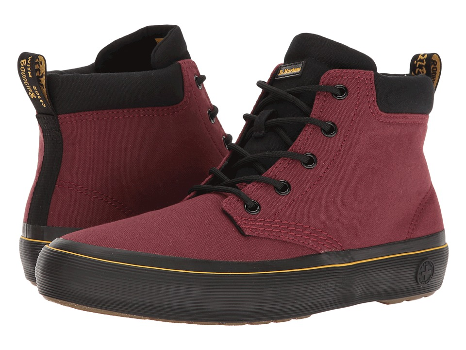 Dr. Martens Allana (Cherry Red/Black Canvas) Women