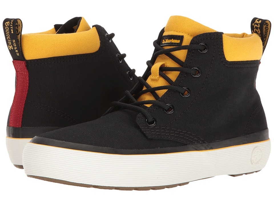Dr. Martens - Allana (Black/DMS Yellow Canvas) Women's Boots