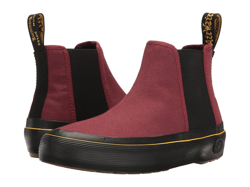 Dr. Martens - Phoebe (Cherry Red Canvas) Women's Boots