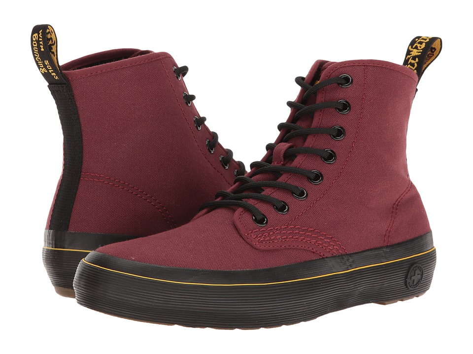 Dr. Martens - Monet (Cherry Red Canvas) Women's Boots