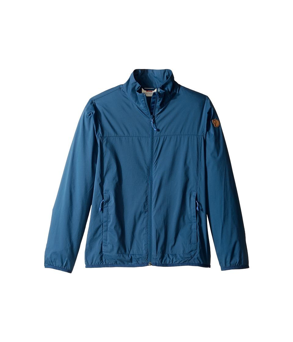 Fjallraven Kids - Abisko Windbreaker Jacket (Little Kids/Big Kids) (Uncle Blue) Boy's Coat