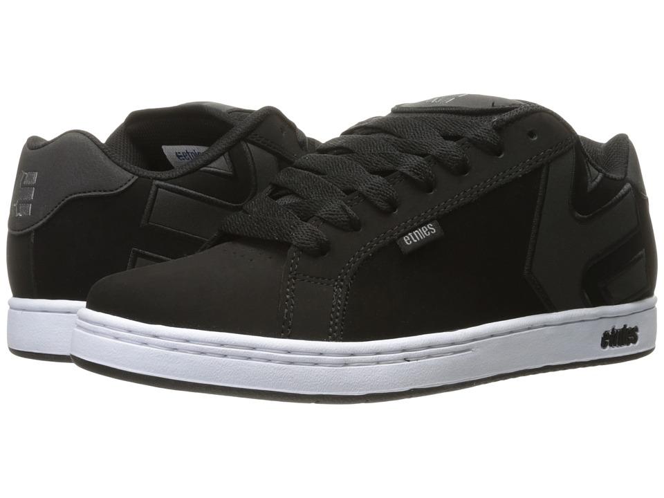 etnies - Fader (Black/White/Silver) Men's Skate Shoes