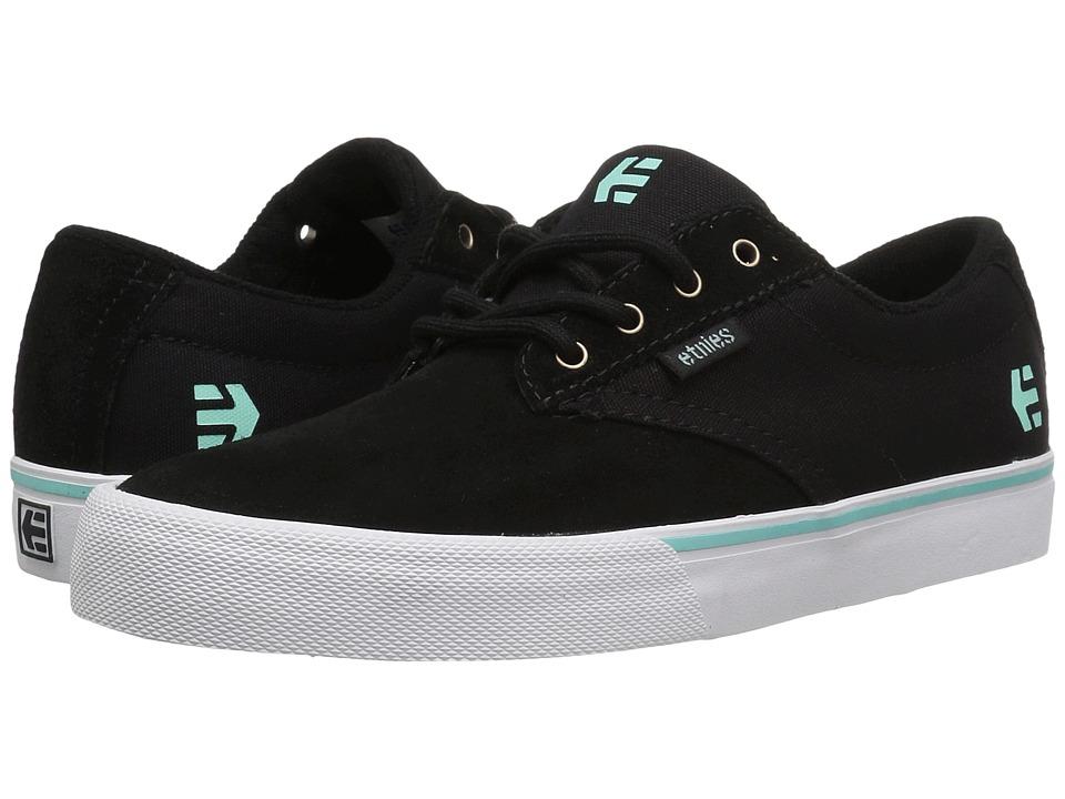 etnies - Jameson Vulc (Black/Teal) Women's Skate Shoes
