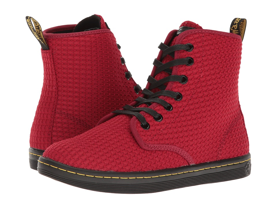 Dr. Martens - Shoreditch WC (Dark Red Waffle Cotton) Women's Boots