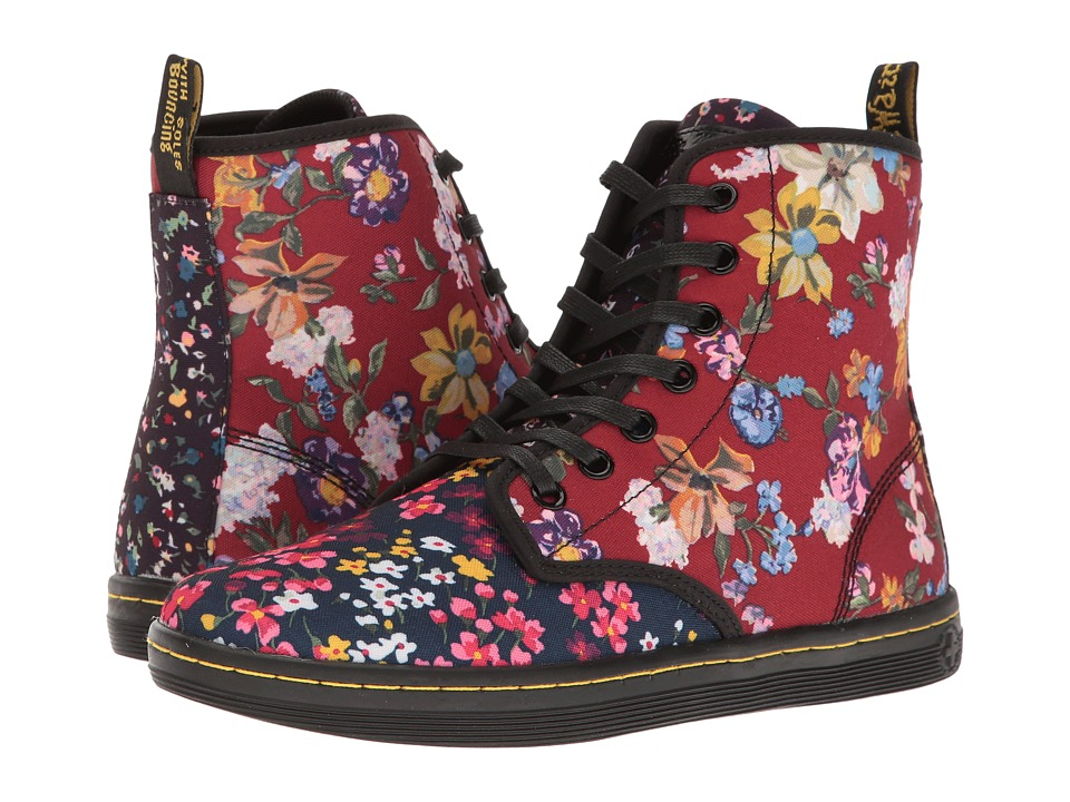 Dr. Martens - Shoreditch FC (Multi Floral Mix T Canvas) Women's Boots