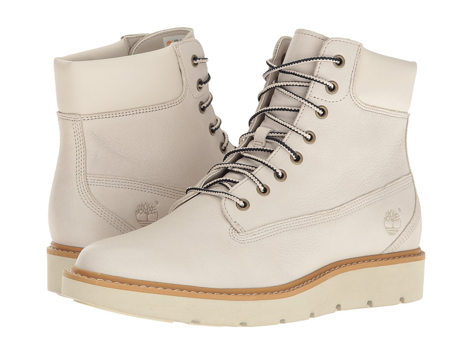 Timberland - Kenniston 6 Lace-Up Boot (White Full Grain) Women's Lace-up Boots