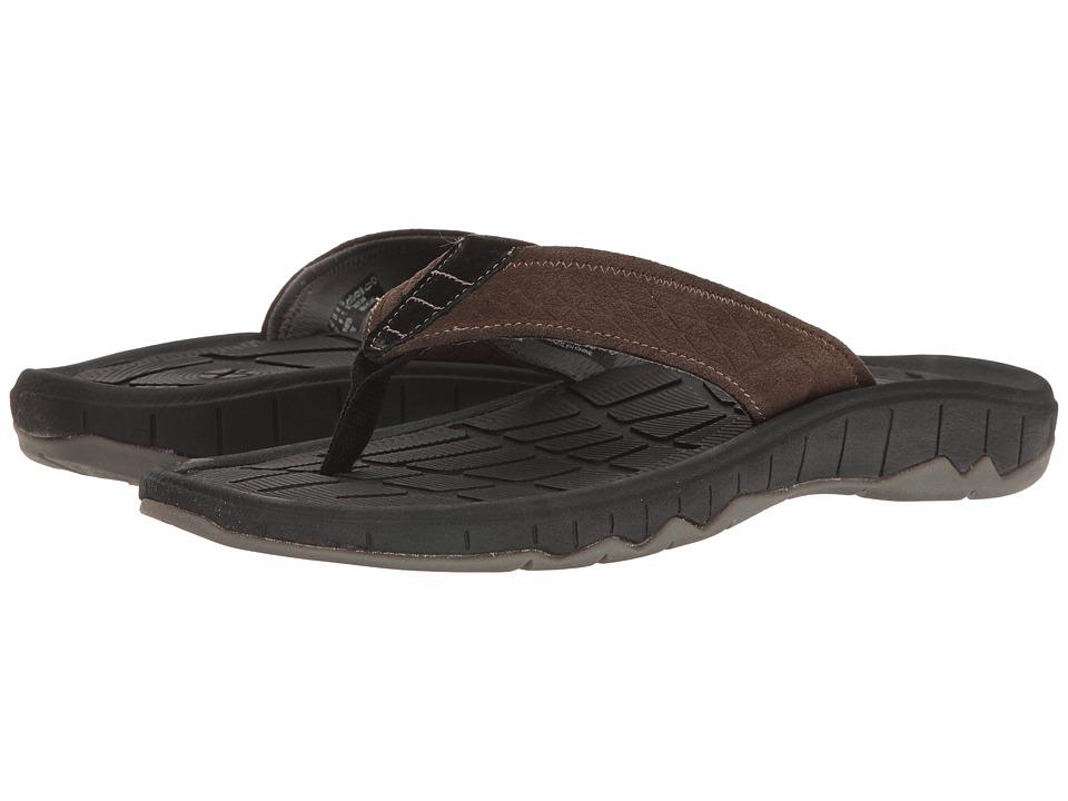 Hush Puppies - Mega Breeze (Brown Suede) Men's Sandals