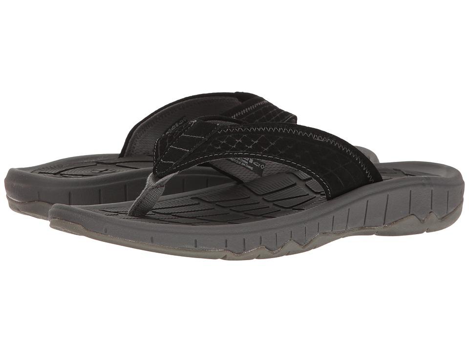 Hush Puppies - Mega Breeze (Black Suede) Men's Sandals