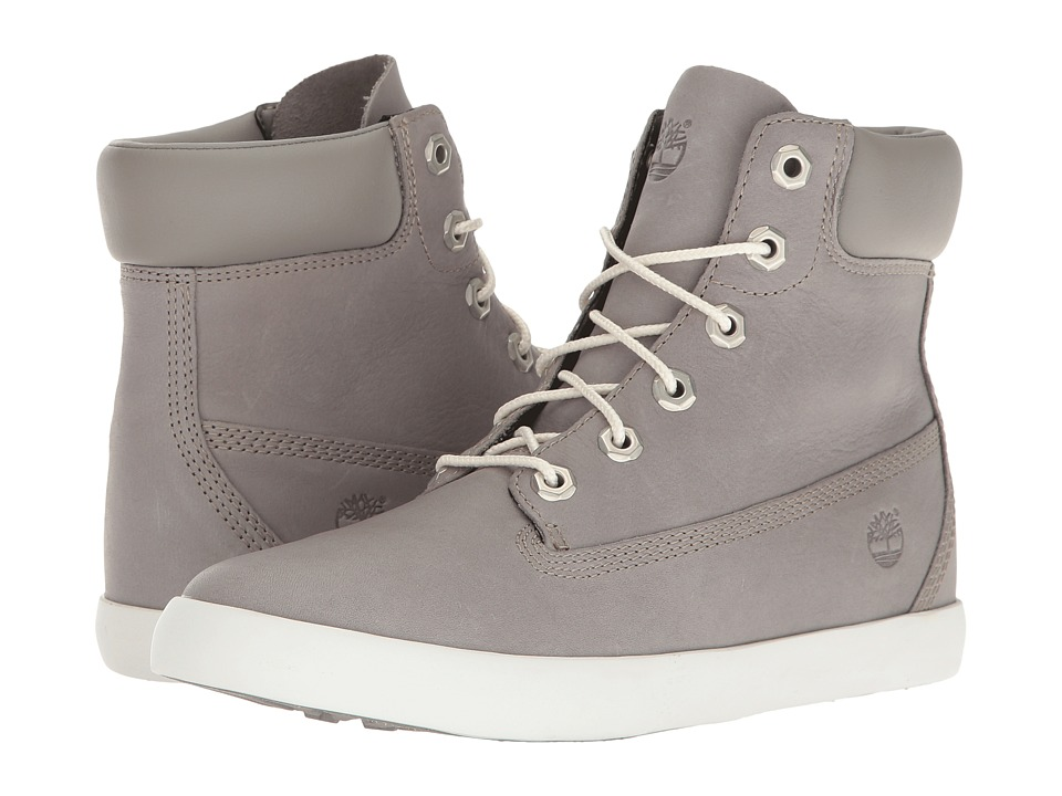 Timberland Flannery 6 Boot (Medium Grey Full Grain) Women