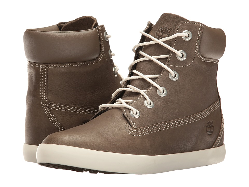 Timberland - Flannery 6 Boot (Medium Grey Full Grain) Women's Lace-up Boots