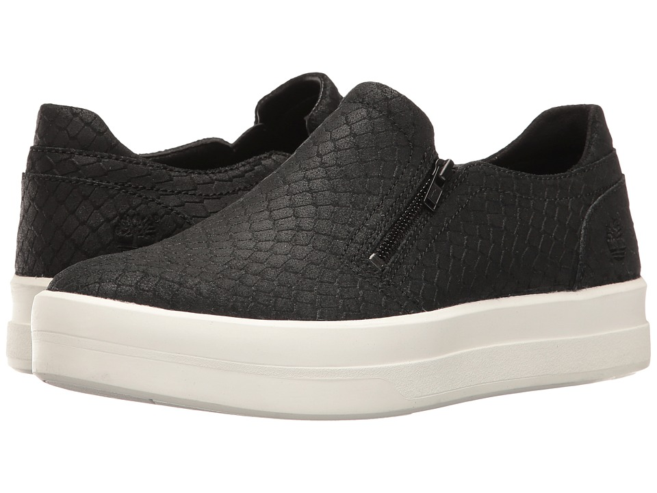 Timberland - Mayliss Slip-On (Black Suede/Snake Emboss) Women's Slip on Shoes