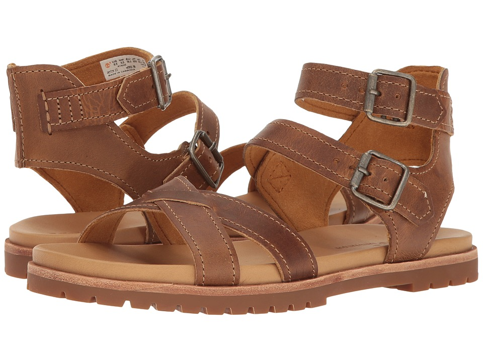Timberland - Natoma Y-Strap Sandal (Medium Brown Full Grain) Women's Sandals