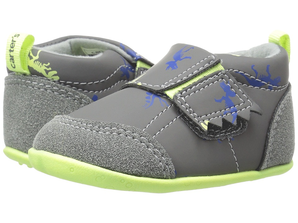 Carters - Alex SB (Infant/Toddler) (Gray/Yellow) Boy's Shoes