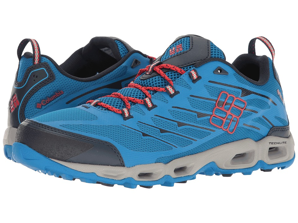 Columbia - Ventrailia II (Static Blue/Poppy Red) Men's Walking Shoes