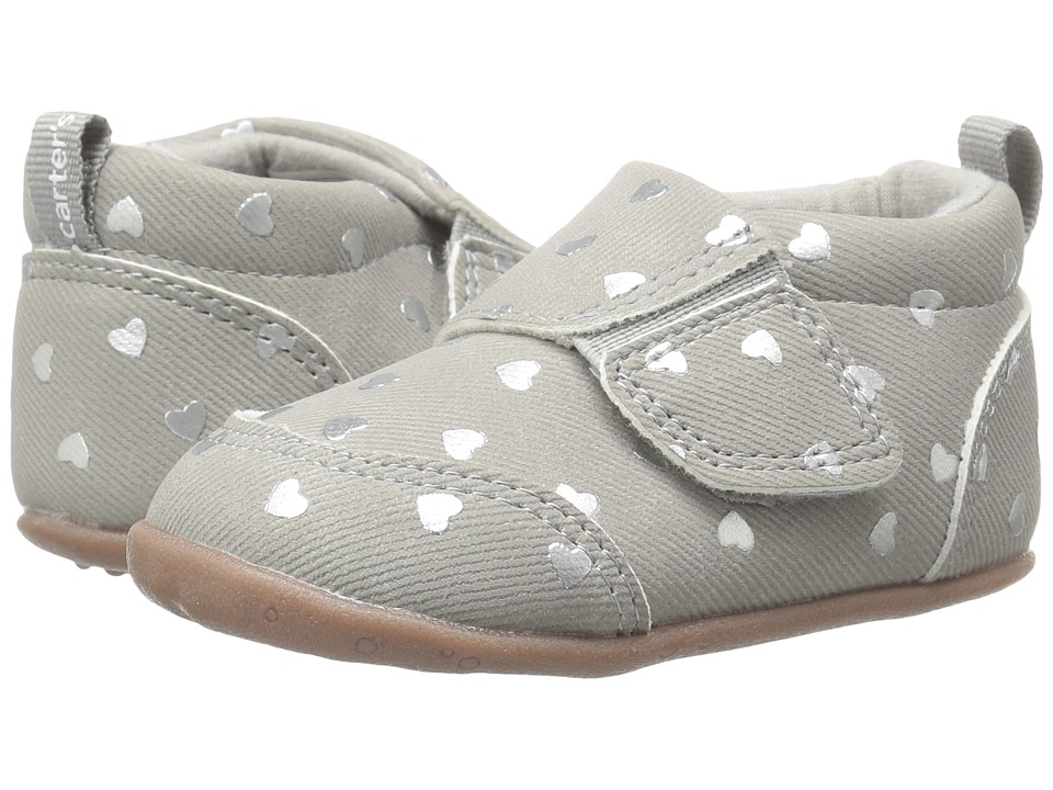 Carters - Alex SG (Infant/Toddler) (Gray) Girl's Shoes