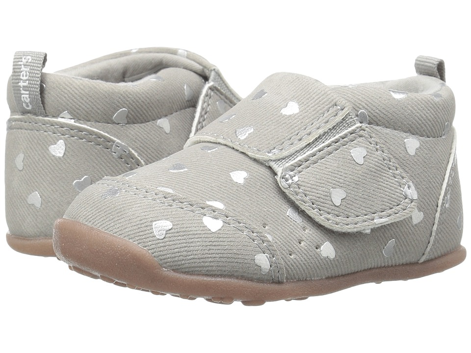 Carters - Alex WG (Toddler) (Gray) Girl's Shoes