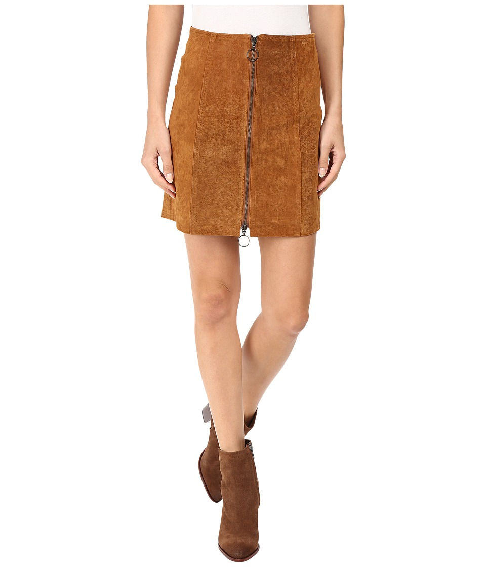 Capulet - A-Line Zip Skirt (Cognac) Women's Skirt